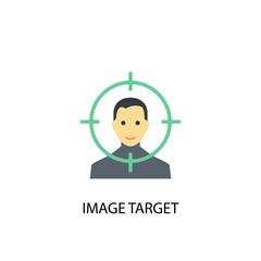 Image Target concept flat icon. Simple element illustration