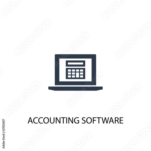 Accounting Software Icon Simple Element Illustration