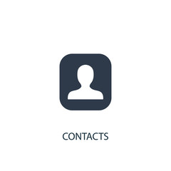 contacts icon. Simple element illustration