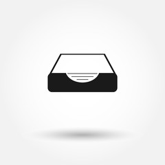 Social media inbox icon. inbox vector icon. Can be used for web and mobile.