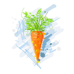 Carrot. Abstract carrot. Vector illustration