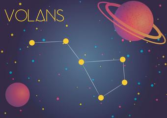 The constellation Volans