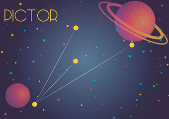 The constellation Pictor