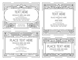Vintage Art Deco Frames and Elements Two
