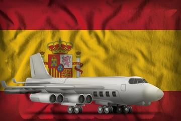 bomber on the Spain state flag background. 3d Illustration