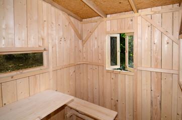 Holzhaus innen