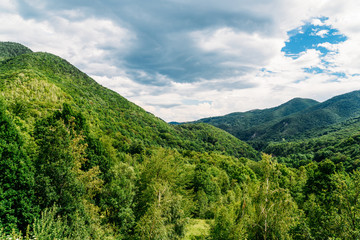 Beautiful Carpathian Mountains Summer Landscape In Romania