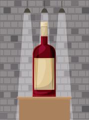 best drink bottle alcohol icon vector illustration design