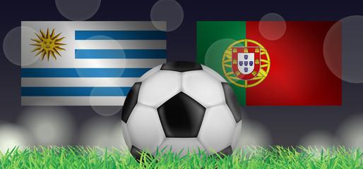 Fußball 2018 - Achtelfinale (Uruguay vs Portugal)