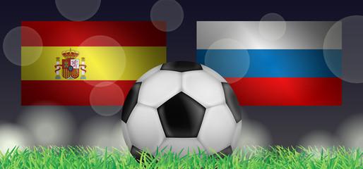 Fußball 2018 - Achtelfinale (Spanien vs Russland)