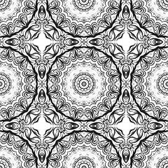 Decorative mandala flower ornament. pattern. vector. Tribal Ethnic Arabic, Indian, motif. for fashion design, wallpaper, invitation