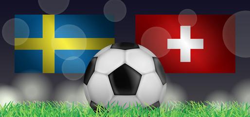 Fußball 2018 - Achtelfinale (Schweden vs Schweiz)