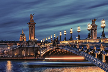 Wall Mural - Bridge Alexandre III and Hotel des Invalides in Paris