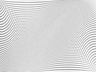 Halftone pattern Digital gradient with dots. Futuristic panel. Vector illustration