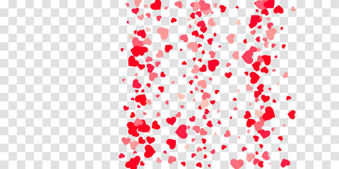 Heart of confetti falls on the background.