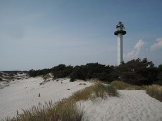 Lighthouse on White Beach