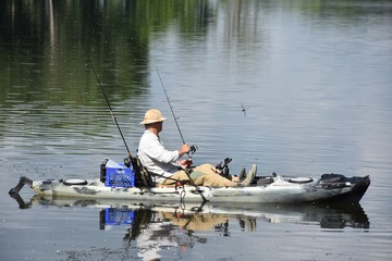 Kayak Fishing in High Summer
