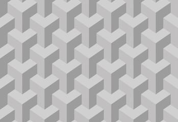 Trihedral tessellation seamless pattern. Vector illustration