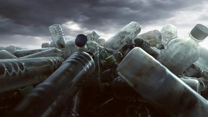 Ein Haufen Plastikflaschen