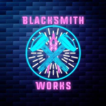 Blacksmith graphic vintage emblem