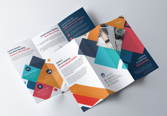 Colorful Geometric Tri-Fold Brochure Layout