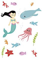 set creature del mare