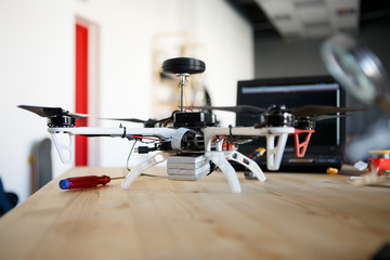 Photo of quadrocopter on table