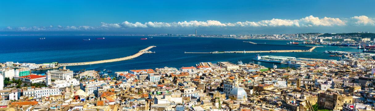 Panorama of the city centre of Algiers in Algeria
