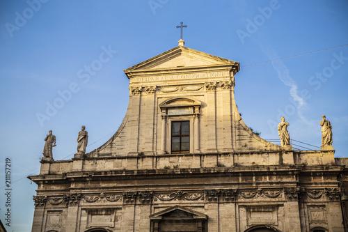 Santa Maria Della Consolazione In Rome Italy Stock Photo And