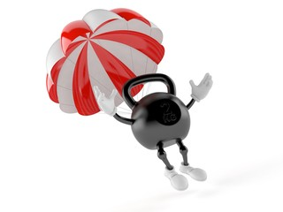 Kettlebell character with parachute