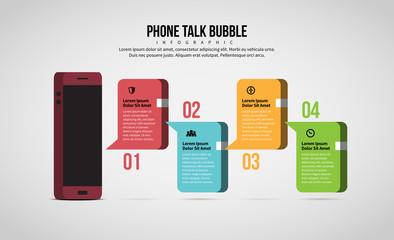 Phone Talk Bubble Infographic