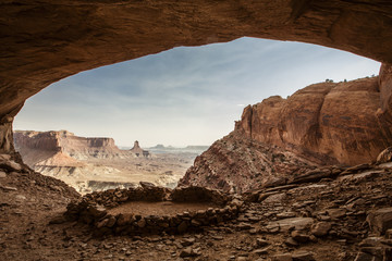 False Kiva stone circle, Canyonlands National Park, Utah, USA
