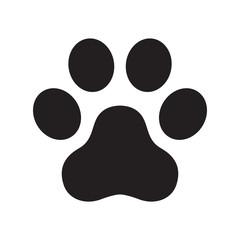 Dog paw vector footprint logo icon symbol graphic illustration cat french bulldog cartoon