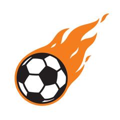 soccer ball vector logo icon football fire symbol illustration cartoon graphic