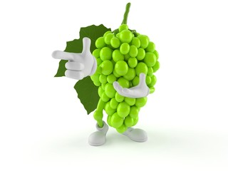 Grapes character pointing finger Fototapete