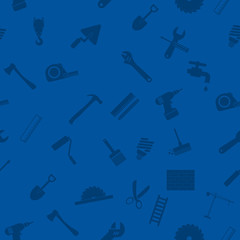 Seamless pattern with repair working tools icons