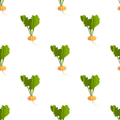 Seamless pattern with turnips