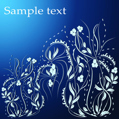 Abstract hand drawn floral pattern with lily flowers. Vector illustration. Element for design