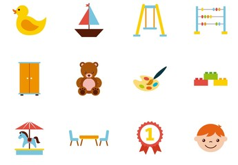 25 Colorful Childrens Icons