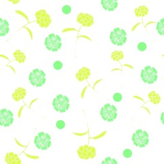 Colorful Floral Pattern Repeating Seamless