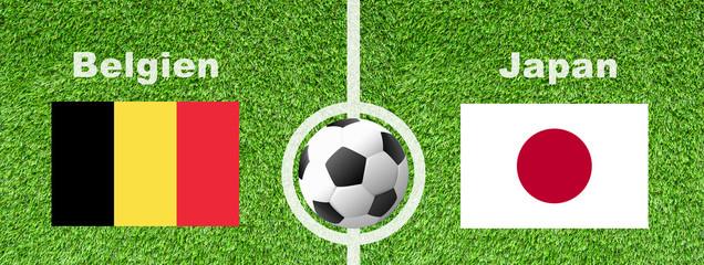 Fußball Achtelfinale - Belgien gegen Japan