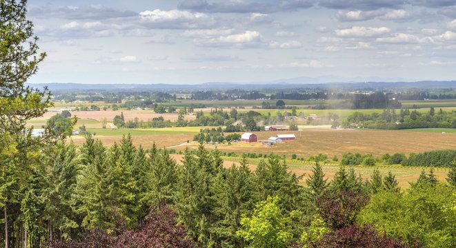 Oregon countryside Willamette valley farming.