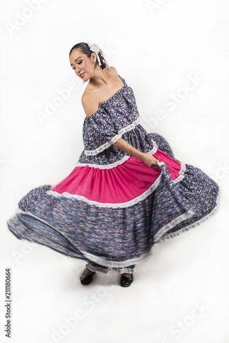 830a6df86 Mexican regional dancer making dress slopes
