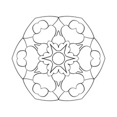 mandala pattern illustration vector for t-shirt  mandala coloring book