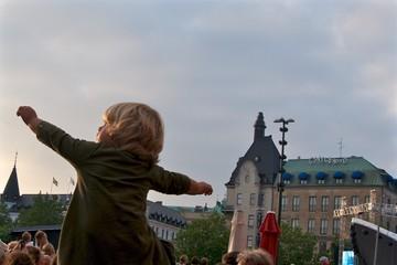 Childhood Concert City Main Square Child Arm Open