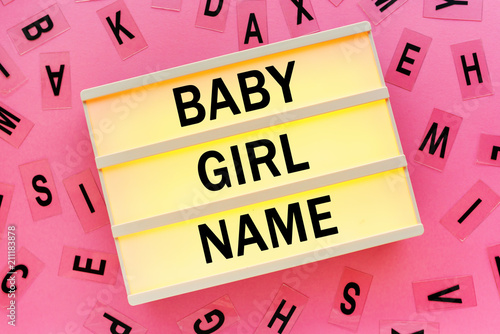 Choosing baby girl name concept