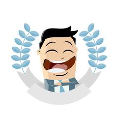 asian businessman is getting an award