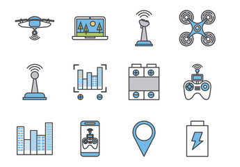 16 Colorful Technology Icons