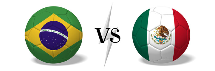 Soccerball concept - Brazil vs Mexico