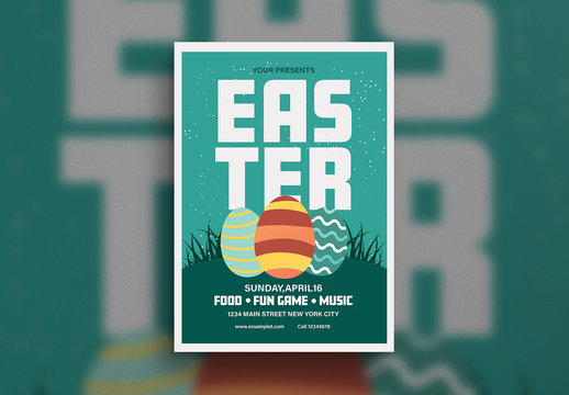 Easter Party Flyer Layout